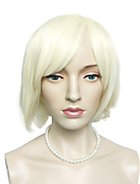 White BOB Wig Capless Synthetic Fiber Wig Women Party Costume Wig