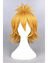 Curto curto toucado dourado em linha urashimakotetsu sintético 12inch anime cosplay ponytail wigcs-231l