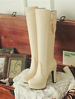 Mujer-Tacón Robusto-Confort-Botas-Informal-PU-