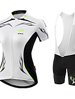 MALCIKLO® Cycling Jersey with Shorts Women's Short Sleeve BikeBreathable Anatomic Design Moisture Permeability High Breathability