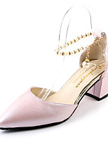 Women's Sandals Summer Club Shoes Leatherette Outdoor Party & Evening Dress Chunky Heel Pearl Walking