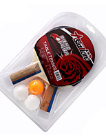 2 Stars Table Tennis Rackets Ping Pang Wood Short Handle Pimples Indoor Performance Practise Leisure Sports-#