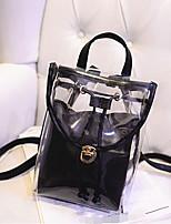 Women Shoulder Bag PVC All Seasons Casual Outdoor White Black
