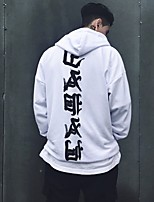 Men's Casual/Daily Sports Hoodie Letter Round Neck Micro-elastic Cotton Long Sleeve Spring Fall