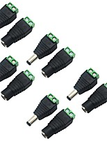 5 Pack 5.5 X 2.1mm Barrel Power 12V Male to Female DC Power Jack Adapter Connector Plug for CCTV Security Camera LED Strip
