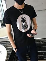 Tee-shirt Homme,Imprimé Sortie Décontracté / Quotidien Vacances simple Chic de Rue Actif Toutes les Saisons Manches Courtes Col Arrondi