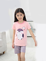 Unisex Casual/Daily Animal Print Sets,Cotton Summer Clothing Set