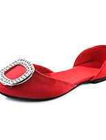 Damen-Sandalen-Outddor Kleid Lässig-Kunstleder-Flacher Absatz-D'Orsay und Zweiteiler-Gold Schwarz Silber Purpur Rot