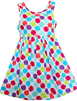 Girls Dress Colorful Dot Print Cotton Party Birthday Princess Casual Children Clothes