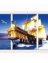 3 D Sitting Room Bedroom Adornment Wall Sailing The Sea