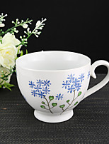 Blue Throatwort Flower High Temperature Porcelain Tea Cup/Coffee Mug 330 ml