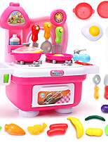 Pretend Play Toy Kitchen Sets Toy Foods Toys Leisure Hobby PVC Girls´ Boys´