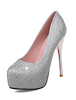 Women's Heels Summer Fall Club Shoes Microfibre Synthetic Wedding Party & Evening Dress Stiletto Heel Rhinestone