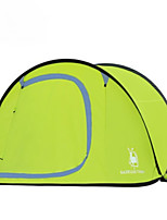 3-4 persons Single One Room Camping TentHiking Camping Traveling-Green Coffee Blue Orange Army Green