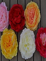1 Branch Plastic Peonies Tabletop Flower Artificial Flowers Random Color