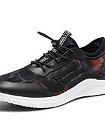 Черный Синий Черный/Красный-Для мужчин-Для прогулок Повседневный Для занятий спортом-Тюль-На плоской подошве-Удобная обувь-Кеды