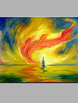 Hand-Painted Abstract Sea Hurricane Modern One Panel Canvas Oil Painting For Home Decoration