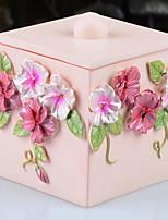 Bathroom Gadget Cosmetic Cotton Storage Box Resin /Barroco