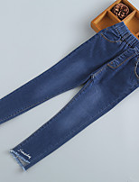 Girls' Casual/Daily Embroidered Jeans-Acrylic Spring Fall