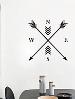 Shapes Wall Stickers Plane Wall Stickers Decorative Wall StickersVinyl Material Home Decoration Wall Decal Compass Black