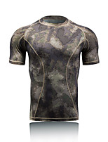 Men's Short Sleeve Running Tops Breathable Thermal / Warm Quick Dry Ultraviolet Resistant Antistatic Sunscreen Spring Summer Fall/Autumn