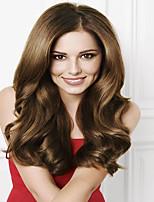 # 6 marron cheveux humains indiens sans colle pleine perruques perruques de cheveux humains vague corps mou 8-26 pouces