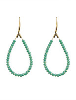 Drop Earrings Crystal Alloy Fashion Euramerican Circle Green Jewelry Wedding Party Halloween Daily Casual Sports 1 pair