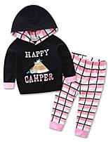 Girl Baby Sets Cotton All Seasons Spring Fall Long Sleeve Clothing kids Hoodie Sports shirt Set