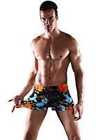 Mulheres Calcinhas, Shorts & Calças de Praia Floral Nadador Náilon Elastano Mulheres