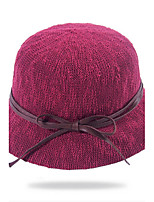 Women 's Summer Fisherman Leisure Sun Breathable Solid Color Bow Foldable Basin Cap