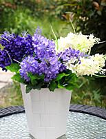 1 Филиал Полиэстер Пластик Светло-голубой Букеты на стол Искусственные Цветы 35