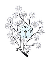 Fashion Creative Big Tree Metal  Mute Wall Clocks