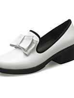 Белый Черный Миндальный Вино-Для женщин-Для офиса Для праздника Повседневный-Лакированная кожа-На толстом каблуке Блочная пятка-клуб Обувь