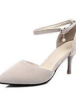 Women's Heels Summer Fall Club Shoes Fleece Office & Career Dress Casual Stiletto Heel Rhinestone Buckle Hollow-out