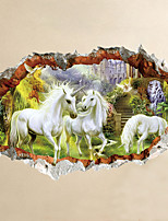 Wall Stickers Wall Decals Style Creative Horse PVC Wall Stickers