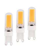 3pcs Dimmable BRELONG 3W COB LED Lights G9 G4 E14 White / Warm White  Bulb  AC220-240V