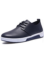 Men's Sneakers Spring Summer Fall Winter Comfort PU Casual Flat Heel Lace-up Walking