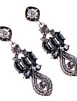 Серьги-слезки Бижутерия Мода Богемия Стиль Euramerican Драгоценный камень Бижутерия Белый Черный Бижутерия ДляСвадьба Для вечеринок