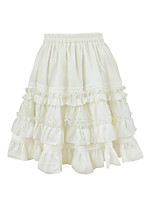 Falda Amaloli Princesa Cosplay Vestido  de Lolita Un Color Lolita Hasta la Rodilla Falda Para Plástico Reforzado Con Fibra