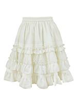 Skirt Sweet Lolita Princess Cosplay Lolita Dress Solid Lolita Knee-length Skirt For FRP