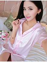 Women's Ultra Sexy Nightwear,Lace Striped-Thin Cotton Women's