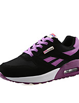 Women's Sneakers Spring Summer Mary Jane Comfort PU Outdoor Athletic Casual Flat Heel Lace-up Running
