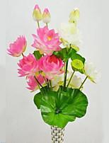 1 Ramo Plástico Lótus Flor de Chão Flores artificiais 40*40*120