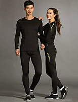 Unisex Long Sleeve Running Clothing Sets/Suits Breathable Comfortable Spring Summer Fall/Autumn Winter Sports Wear Leisure Sports