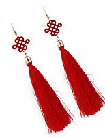 Серьги-слезки Бижутерия Мода Богемия Стиль Euramerican Драгоценный камень Бижутерия Красный Бижутерия ДляСвадьба Для вечеринок Особые
