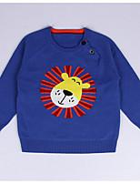 Casual/Daily Animal Print Sweater & Cardigan,Cotton Winter Fall Long Sleeve