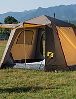 3-4 personnes Double Une pièce Tente de campingRandonnée Camping Voyage-Gris