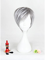 Kurz grau gemischte lolita Perücke für Sonnenschein Jungen synthetischen 12inch Anime cosplay Partei Haar Perücke cs-303a