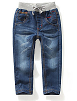 Unisex Casual/Daily Solid Jeans-Cotton Spring Fall