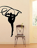 Sports Wall Stickers Plane Wall Stickers Decorative Wall StickersVinyl Material Home Decoration Wall Decal Gymnastics